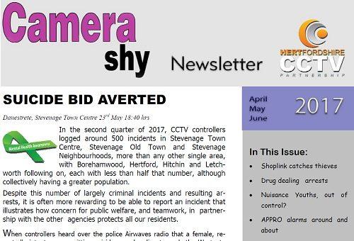 Hertfordshire CCTV Partnerships Camera Shy Quarter 2 2017 Released