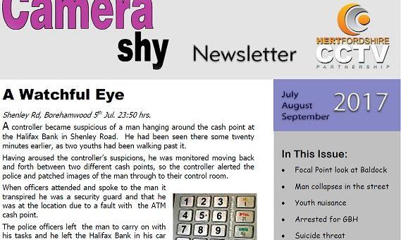Hertfordshire CCTV Partnerships Camera Shy Magazine Quarter 3 2017 Released