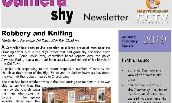 Hertfordshire CCTV Partnerships Camera Shy Magazine Quarter 1 2019 Released